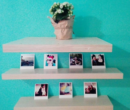 polaroid photo display